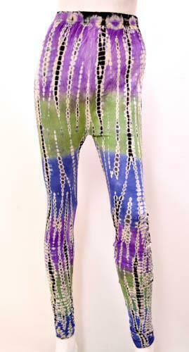 Primary image for HIPPIE SKETCHY TIE DYE YOGA WORKOUT STRETCH LEGGINGS PANTS FREESIZE 12 14 16 18