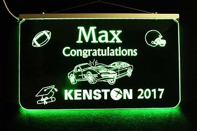 Primary image for Lighted Graduation Sign, Personalized Graduation Gift, Decor, Graduation Party