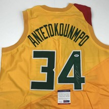Autographed/Signed GIANNIS ANTETOKOUNMPO Milwaukee Yellow Jersey PSA/DNA... - €223,74 EUR