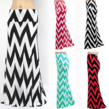 Sexy High Waist Boho Stripe Maxi Skirts - $19.00
