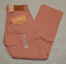NWT Levi's 501XX Button Fly Shrink To Fit Raw Unwashed Denim Pink size 32x30 NEW - $32.74