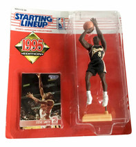 NBA Starting Lineup SLU Steve Smith Action Figure Atlanta Hawks 1995 Kenner - $12.19