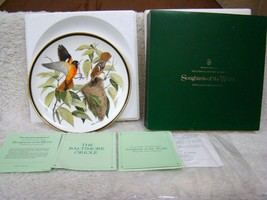 """Franklin Mint Audubon Socty Songbirds of the World Plate """"The Baltimore ... - $21.73"""