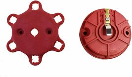 Red Pro Series Distributor Cap, Rotor Kit 6-Cylinder Male image 6