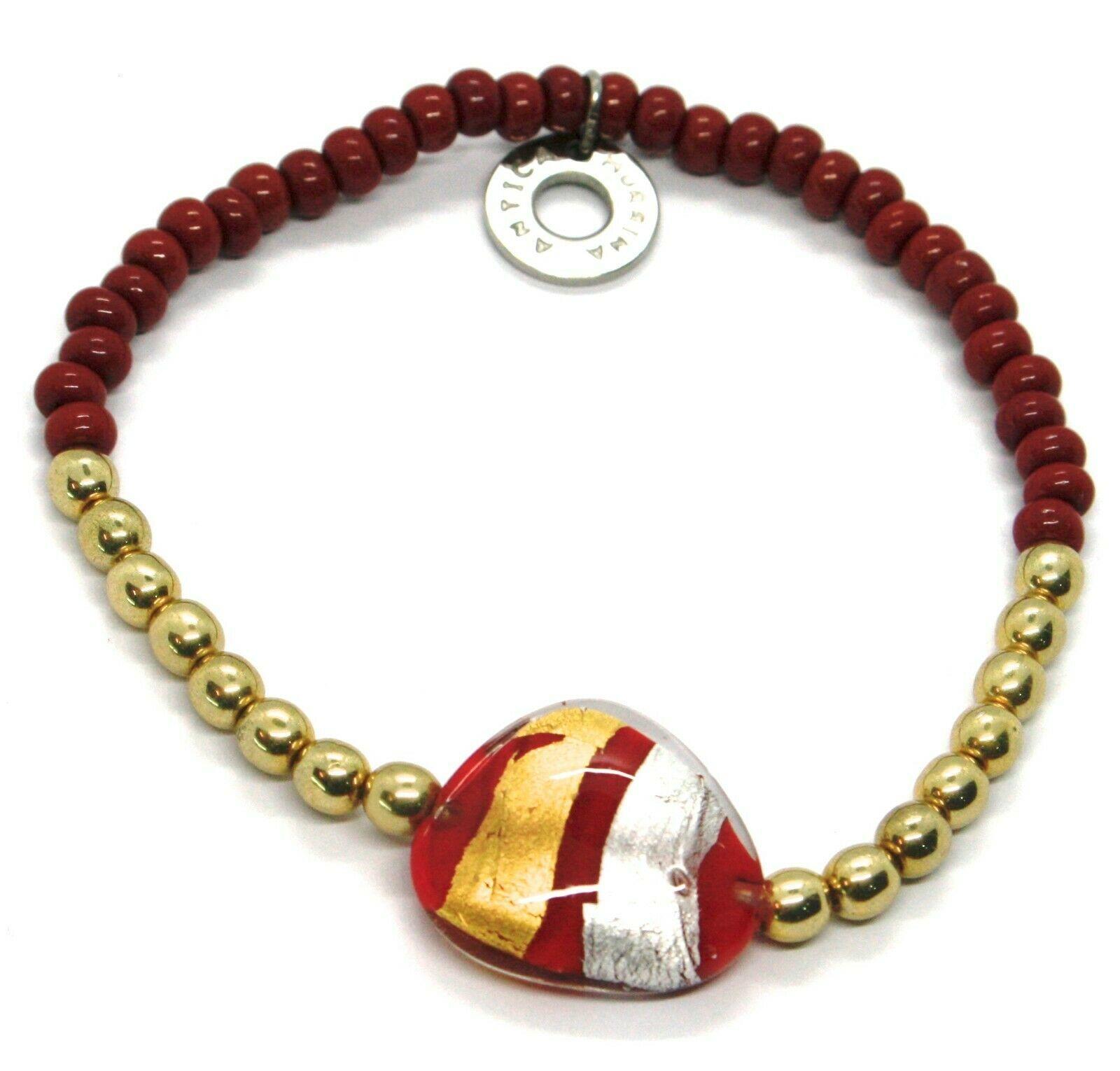 Bracelet Antica Murrina Venezia BR748A11, Moretta, Drop Red, Elastic