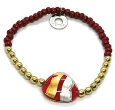 Bracelet Antica Murrina Venezia BR748A11, Moretta, Drop Red, Elastic image 1