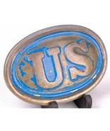 US Brass Belt Buckle-Civil War Replica-Vtg - $14.01