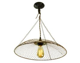 Farmhouse Chicken Basket Pendant Light, Single Edison E-26 Type Bulb - $89.00