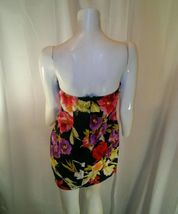 Forever 21 Womens Multicolored Strapless Floral Mini Dress Small image 8