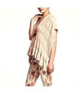 Anthropologie Poncho Carolina Bird Cotton Beige Women Sz S - $29.99