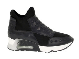 Sneakers ASH LASERSTUDS in black fabric - Women's Shoes - $110.01