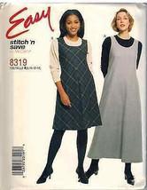 8319 Uncut Mc Calls Pattern Misses Easy A Line Jumper Stitch N Save Sewing Ff Oop - $4.88