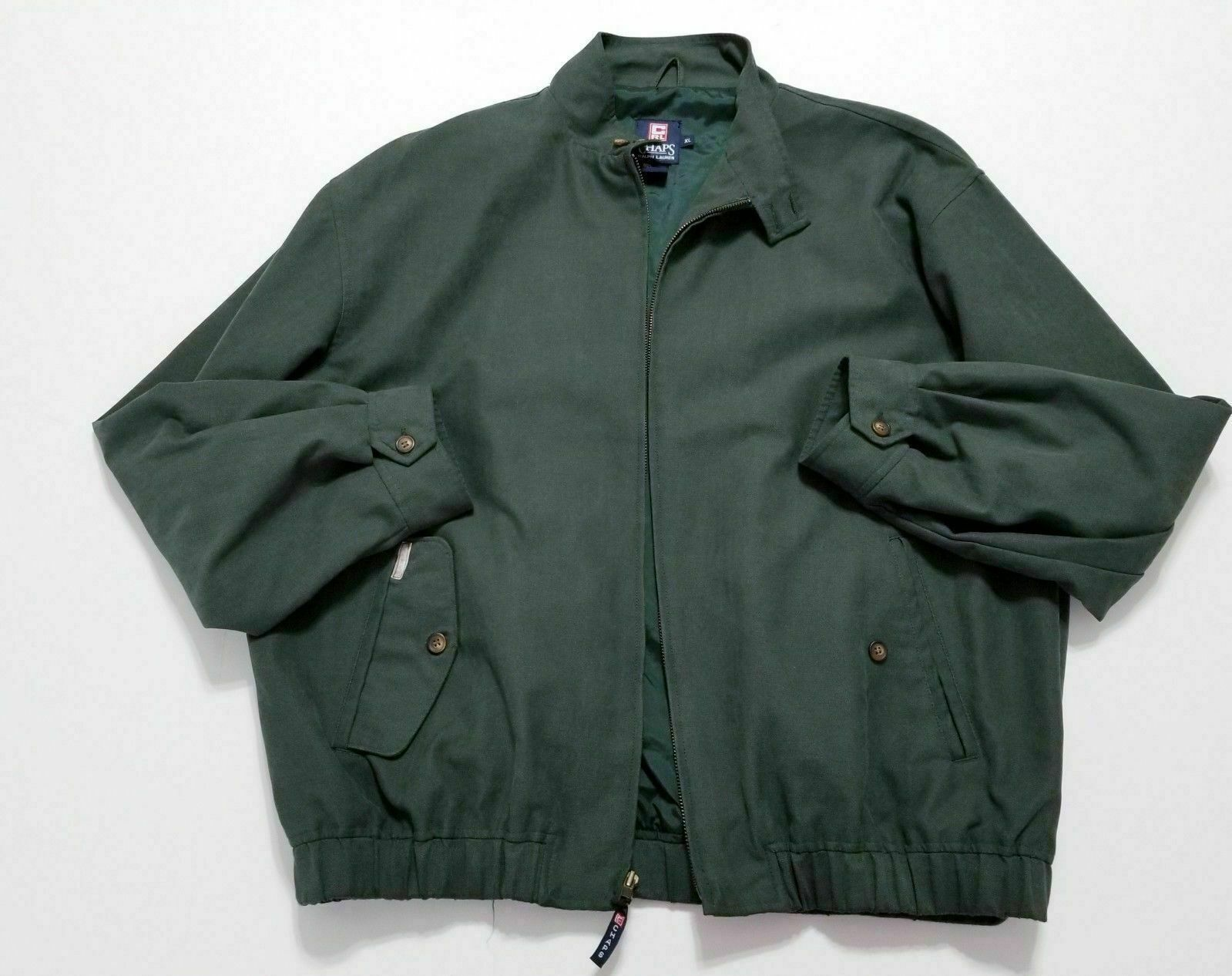 amazing price reliable quality cozy fresh Chaps Ralph Lauren Mens Green Bomber Style and 50 similar items