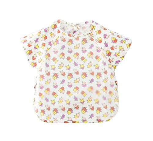 Simple Convenient Baby Waterproof Feeding Bib, 90-100cm Height, Little Flowers