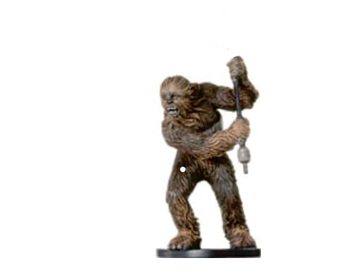 WOOKIEE COMMANDO 59 (damaged) Wizards of the Coast STAR WARS Miniature - $0.99