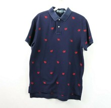 Polo Ralph Lauren Mens Medium Custom Fit Lobster Print Short Sleeve Polo Shirt  - $38.56