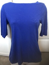 Blue 3/4 Sleeve Shirt By Forever 21 Size S - $8.00