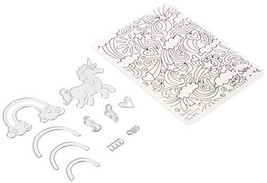 Sizzix, Multi Color, Thinlits Die Set with Textured Impressions , Unicorn and Ra - $19.99