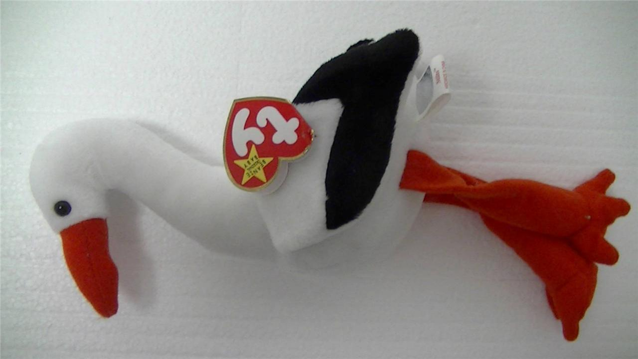Ty Beanie Baby Original Stilts the Stork 1998 with Tags
