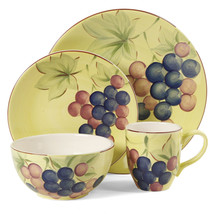 Gibson Home Fruitful Harvest Grapes 16pc Dinnerware Set - $72.12