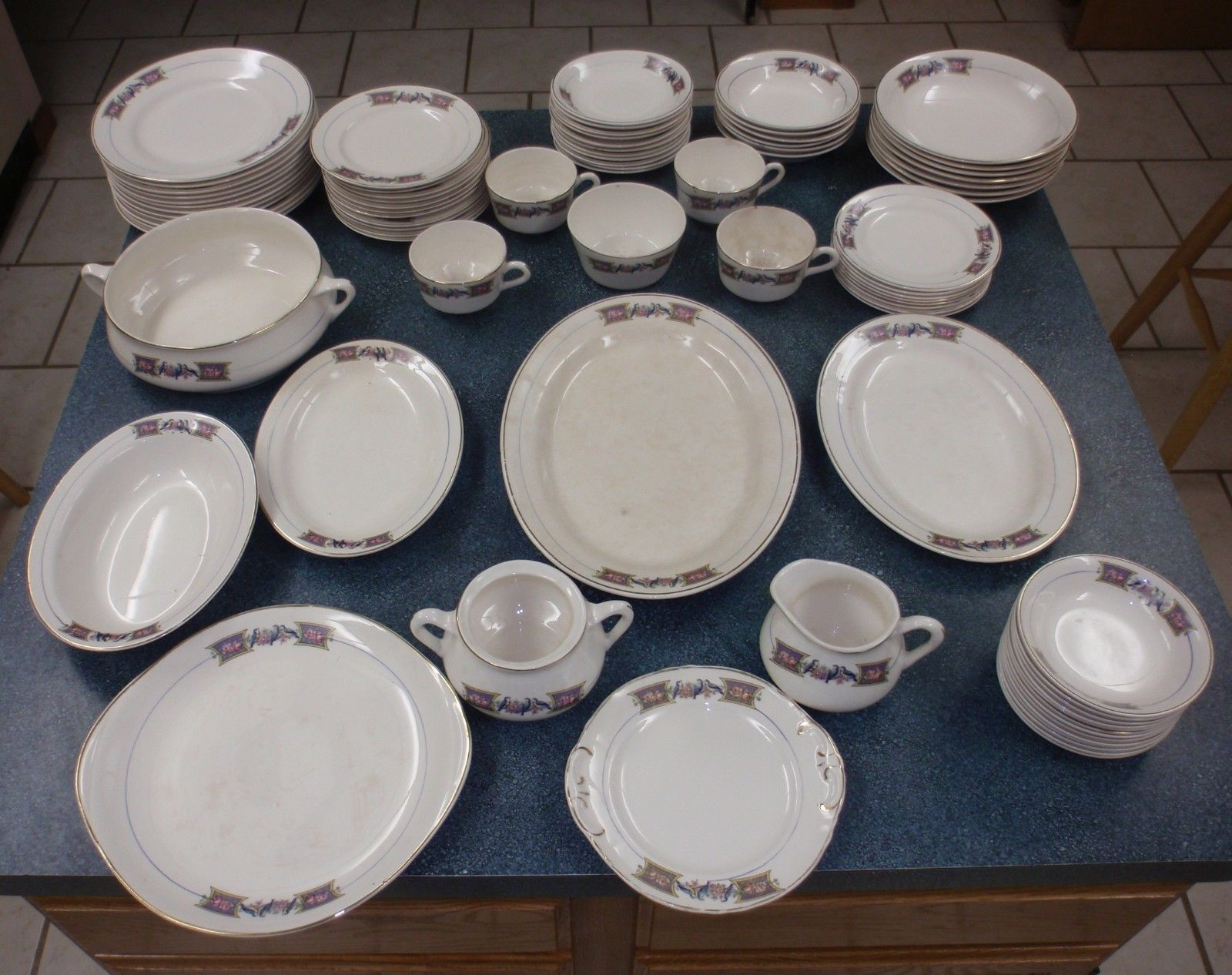 Vintage 82 Piece Edwin M. Knowles China and 17 similar items