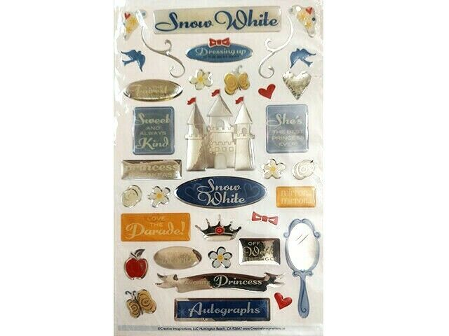 Creative Imaginations Dimensional Snow White Sticker Set