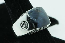 DAVID YURMAN Sterling Silver Exotic Stone Signet Ring with Pieterisite Sz 10.25 - $390.00