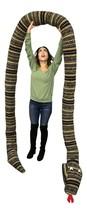 American Made 18 Foot Giant Stuffed Snake 216 Inches Long, Soft Desert Green Str - $149.99