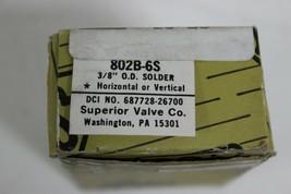 "Superior Valve 802B-6S 3/8"" O.D solder Check Valve New image 2"
