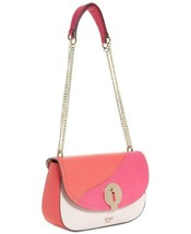 Guess NWT $108 Poppy Pink Multi Shoulder Hand Bag Augustina Small Flap Magnetic - $57.92