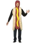 Hot Dog Costume Adult Food Wiener in Bun Mustard Halloween Party Unique ... - $44.99