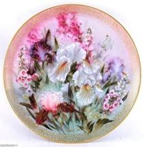 Iris Quartet Symphony of Shimmering Beauty 1991 Lena Liu Bradford Plate COA - $37.95