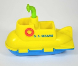 SESAME STREET Yellow SUBMARINE Toy 1996 TYCO Jim Henson - $14.03