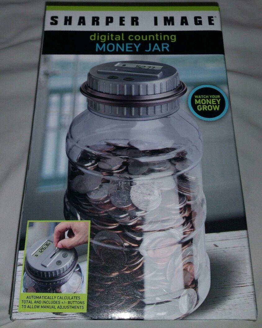 Sharper Image Digital Counting Money Jar And Similar Items
