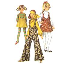 1960s Vintage Simplicity Sewing Pattern 8379 Girls Jumpsuit Jumper Pantj... - $8.95
