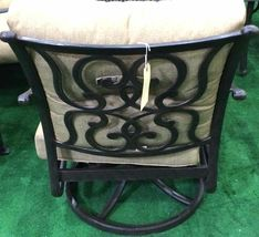 Patio Fire Pit 5 Piece Chat Set Propane table outdoor Santa Anita Swivels Chairs image 6