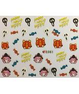 Nail Art 3D Decal Stickers Happy Halloween Candy Reeper Pumpkin - $7.43