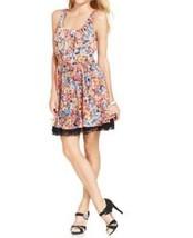 Betsey Johnson Dress Sz 6 Black Red Yellow Multi Floral Sleevless Summer... - $1.303,62 MXN