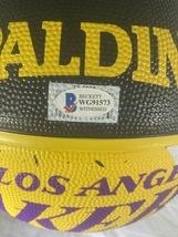 KYLE KUZMA / AUTOGRAPHED LOS ANGELES LAKERS BLACK SPALDING BASKETBALL / BECKETT image 5
