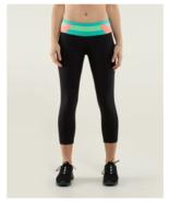 Lululemon Run Inspire Crop II Black/ Quilt Spring Leggings size 12 NWOT - $150.00