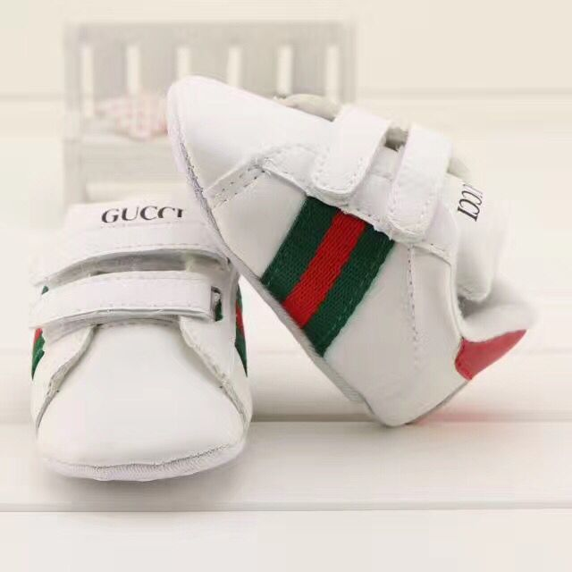 Newborn Infant Leather Sports Walking Shoes White Baby Toddler Shoes G192