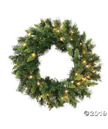 """Vickerman 24"""" Imperial Pine Christmas Wreath with Clear Lights - $44.00"""