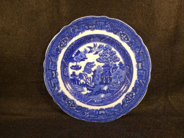 Vintage Allertons English Blue Willow Butter Plate 5 7/8""