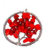 Tree of Life Pendant genuine Coral   20.00 carats - $46.41