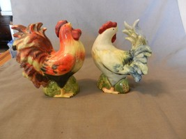Multi-color Ceramic Rooster & Chicken Salt & Pepper Shakers from CIC - $31.67