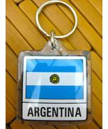 ARGENTINA Flag Key Chain Key Ring FOB, New - $4.99