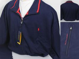 Polo Ralph Lauren Performance Track Jacket Zip Mens XLT Blue Red - $85.14