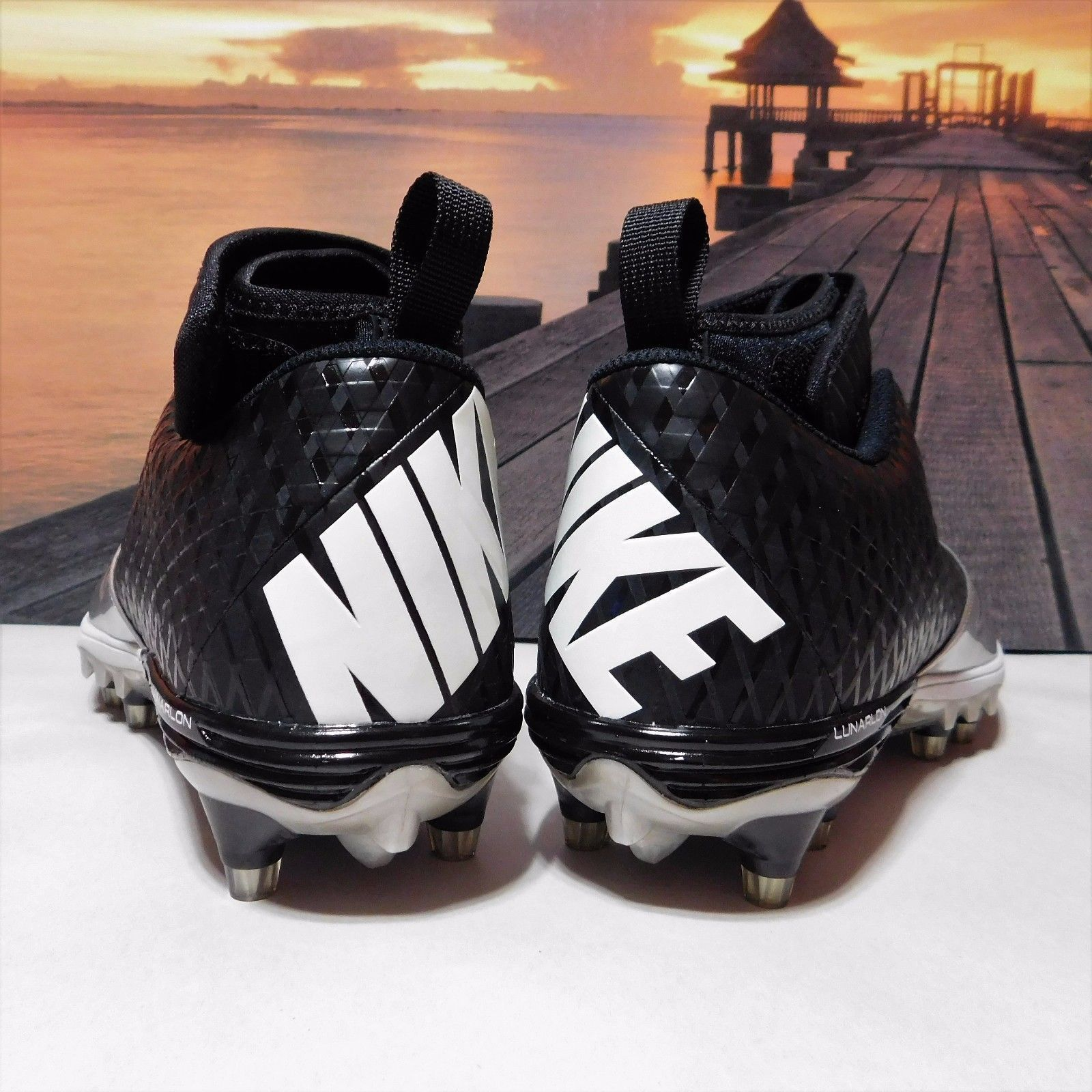 a54d8bf45 New Mens 11.5 Nike Lunar Superbad Pro TD Football Cleats Black Silver  534994-023