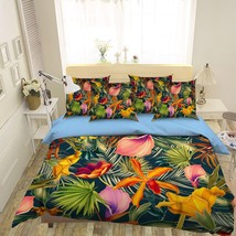 3D Leaf Color Painted 20 Bed Pillowcases Quilt Duvet Single Queen King US Summer - $102.84+