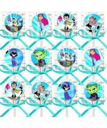 Teen Titans Go Lollipops Party Favors Supplies w/ Turquoise Ribbon Bows ... - $15.73